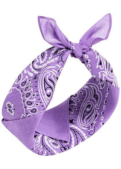 Urban Classics Damen 3er Pack Bandana Paisley Print lila & weiss & rosa