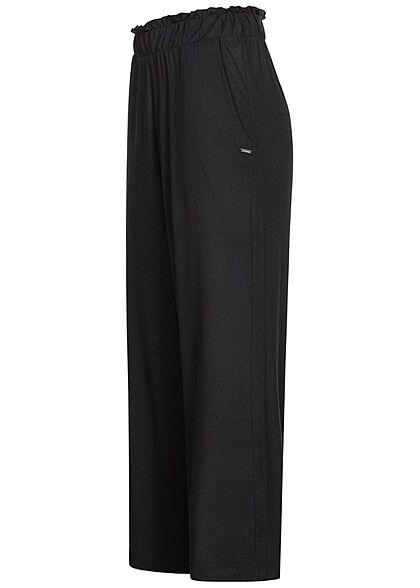 Tom Tailor Damen Paperbag Culotte Hose 2-Pockets schwarz