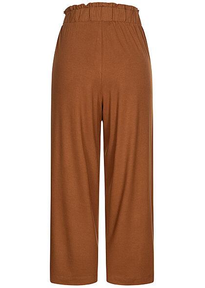 Tom Tailor Damen Paperbag Culotte Hose 2-Pockets amber braun