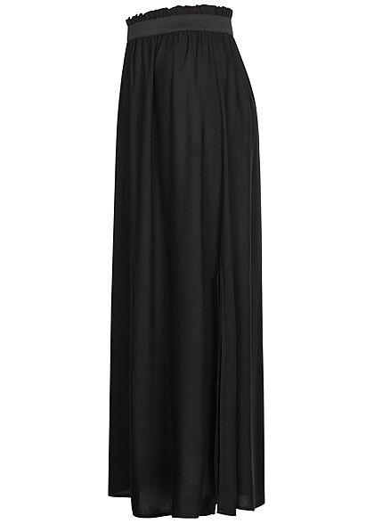 Tom Tailor Damen Paperbag Longform Rock Schlitz seitlich schwarz