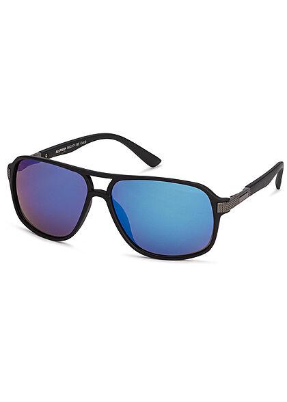 Seventyseven Lifestyle Herren Sonnenbrille UV-Schutz 400 schwarz multicolor