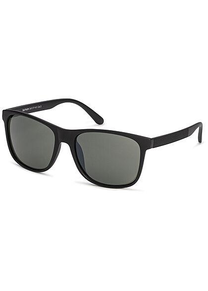 Seventyseven Lifestyle Herren Sonnenbrille UV-Schutz 400 schwarz grün