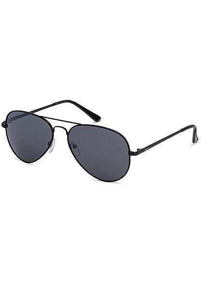 Seventyseven Lifestyle Herren Sonnenbrille UV-Schutz 400 Pilotstyle schwarz