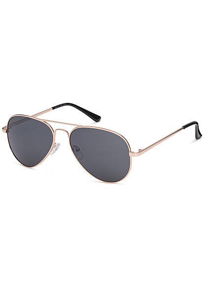 Seventyseven Lifestyle Herren Sonnenbrille UV-Schutz 400 Pilotstyle gold schwarz