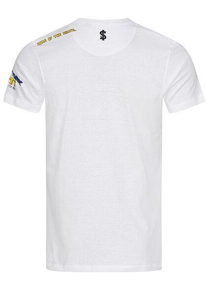 Brave Soul Herren T-Shirt New York City Print optic weiss