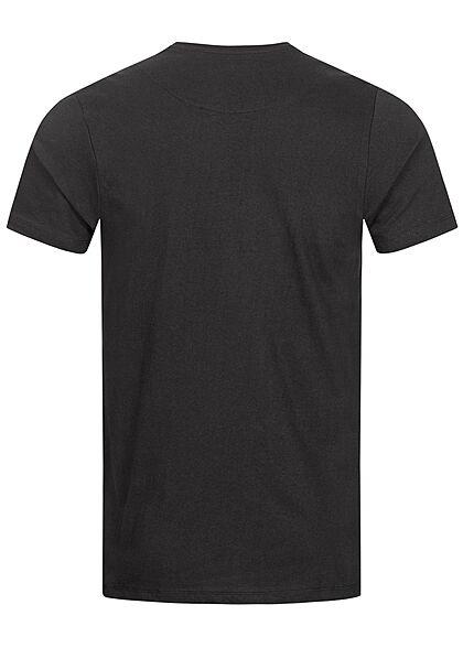 Brave Soul Herren T-Shirt mit Brusttasche jet schwarz