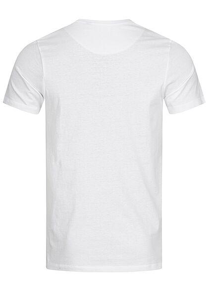 Brave Soul Herren T-Shirt mit Brusttasche optic weiss