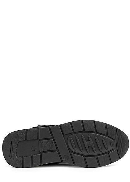 Seventyseven Lifestyle Damen Schuh Mesh Sneaker teilw. Kunstleder LOVE schwarz