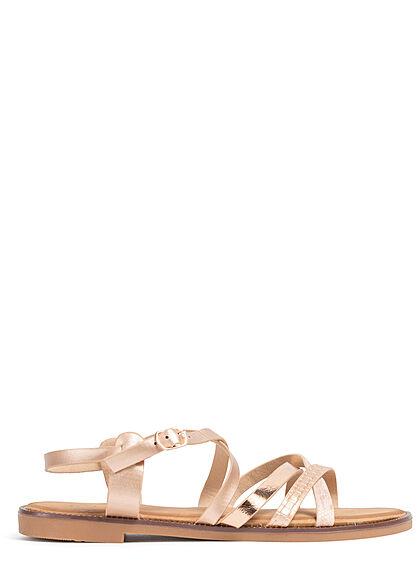 Seventyseven Lifestyle Damen Schuh 2-Tone Riemchen Sandale champagne rose gold