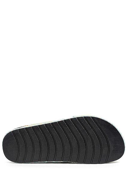 Seventyseven Lifestyle Damen Schuh Riemen Sandale in Velouroptik grün