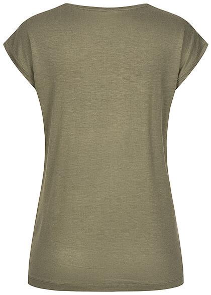 Pieces Damen NOOS T-Shirt Loose Fit deep lichen grün