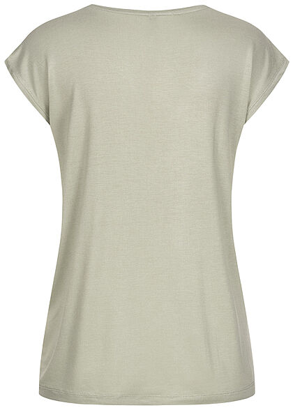 Pieces Damen NOOS T-Shirt Loose Fit desert sage grün