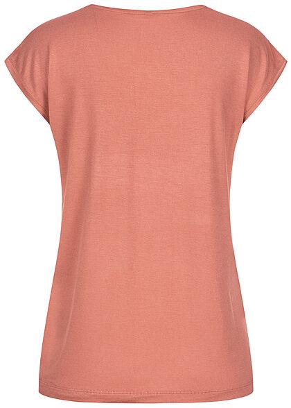 Pieces Damen NOOS T-Shirt Loose Fit canyon rosa