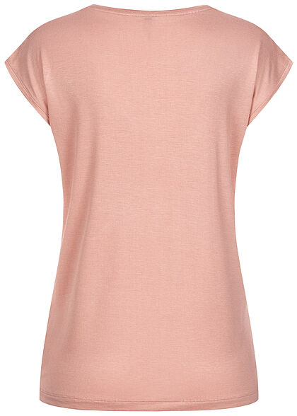 Pieces Damen NOOS T-Shirt Loose Fit misty hell rosa