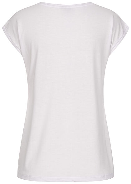 Pieces Damen NOOS V-Neck T-Shirt bright weiss