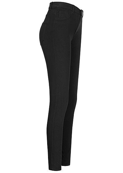 Pieces Damen NOOS High-Waist Skinny Jeggings 5-Pockets schwarz