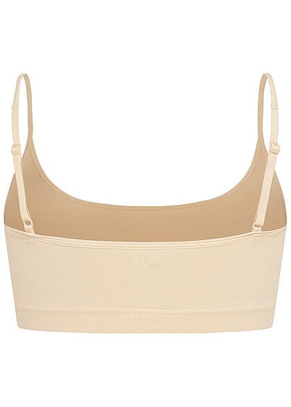 Pieces Damen NOOS 2-er Set Bralette Cropped Top whitecap gray weiss