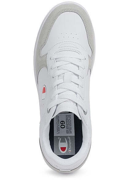 Champion Herren Low Cut Schuh Sneaker Velours Optik weiss grau