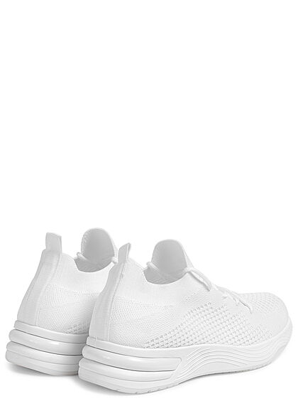 Seventyseven Lifestyle Damen Schuh Running Mesh Sneaker Struktursohle weiss