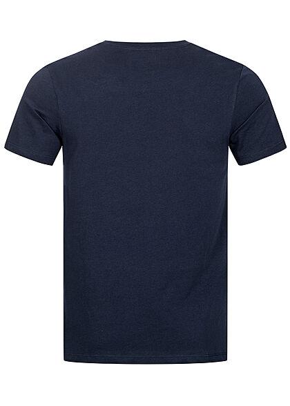 Jack and Jones Herren T-Shirt Logo Frontprint Slim Fit blazer navy blau