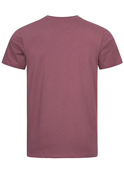 Jack and Jones Herren T-Shirt Logo Frontprint Regular Fit hawthorn rose lila