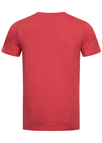 Jack and Jones Herren T-Shirt Logo Frontprint Regular Fit true rot