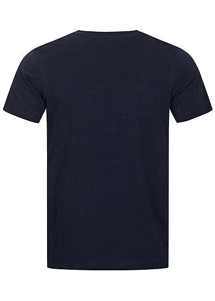 Jack and Jones Herren T-Shirt Skulls Surf Club Print Regular Fit blazer navy blau