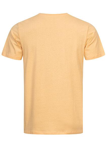 Jack and Jones Herren T-Shirt Skulls Surf Club Print Regular Fit sahara sun gelb