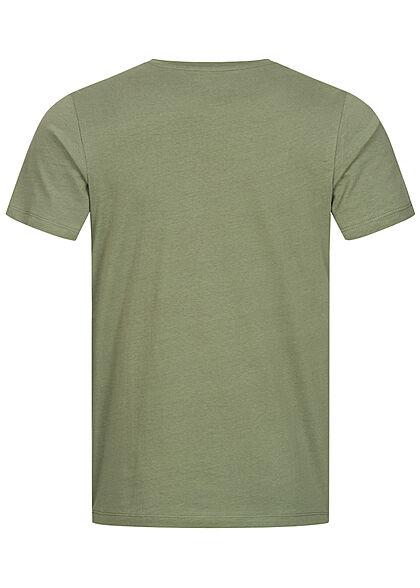 Jack and Jones Herren T-Shirt Skulls Surf Club Print Regular Fit sea spray grün