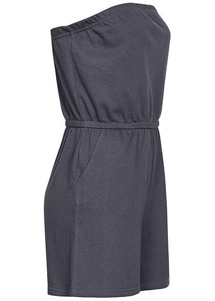 ONLY Damen Bandeau Sweat Playsuit Taillengummibund 2-Pockets ombre blau