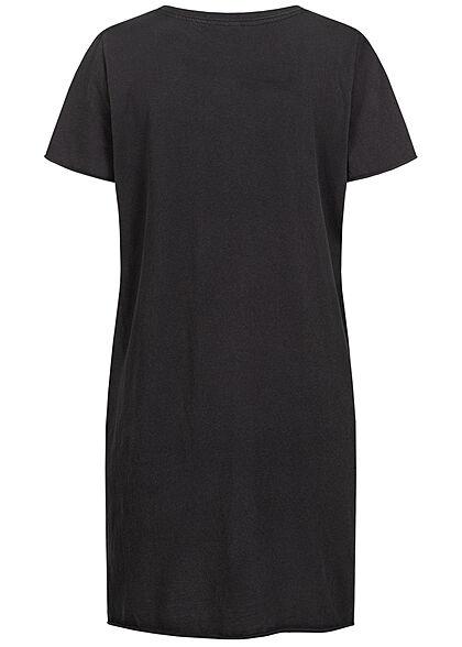 ONLY Damen T-Shirt Kleid Beach Club Print schwarz