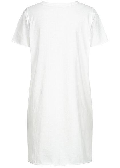 ONLY Damen T-Shirt Kleid Wild Soul Print bright weiss