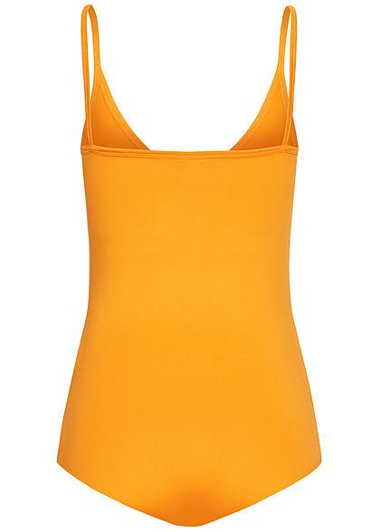 Seventyseven Lifestyle Damen V-Neck Träger Body gelb