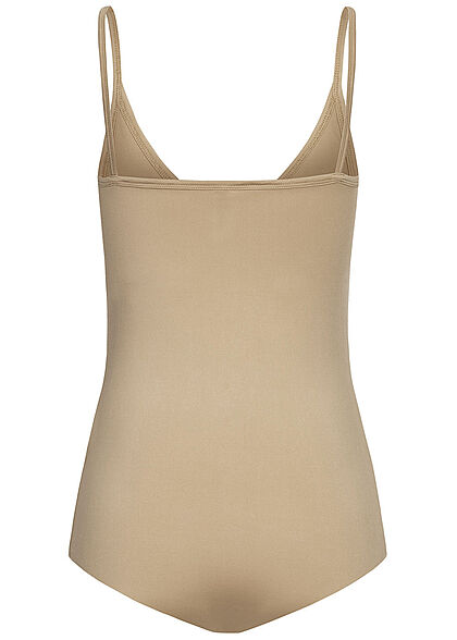Seventyseven Lifestyle Damen V-Neck Träger Body taupe beige