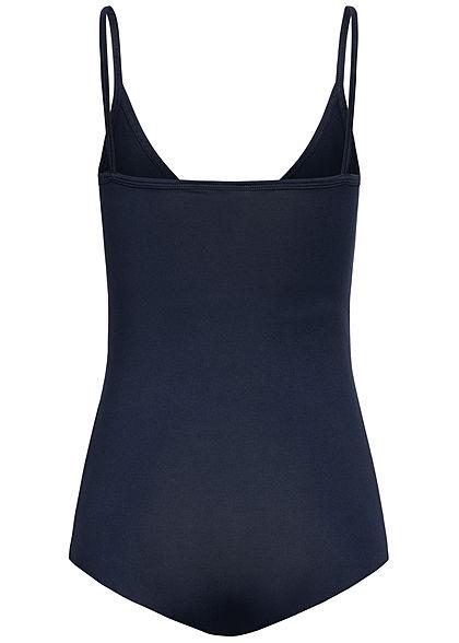 Seventyseven Lifestyle Damen V-Neck Träger Body navy blau