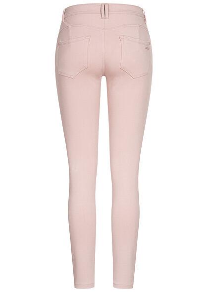 Sublevel Damen Skinny Shape-Up Viskose Hose mit Knopfleiste light greyish rosa