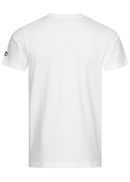 Starter Herren T-Shirt T-Shirt Logo Print weiss schwarz