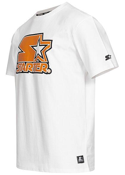 Starter Herren T-Shirt T-Shirt Basketball Logo Print weiss