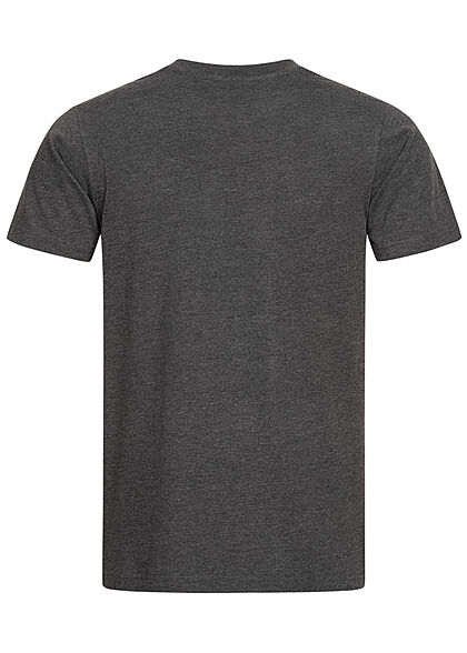 Mister Tee Herren T-Shirt Pray Hand Print charcoal dunkel grau