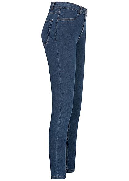VILA Damen NOOS Skinny Jeggings Hose 4-Pockets medium blau denim
