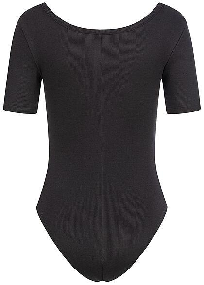 ONLY Damen T-Shirt Body Rückenausschnitt schwarz