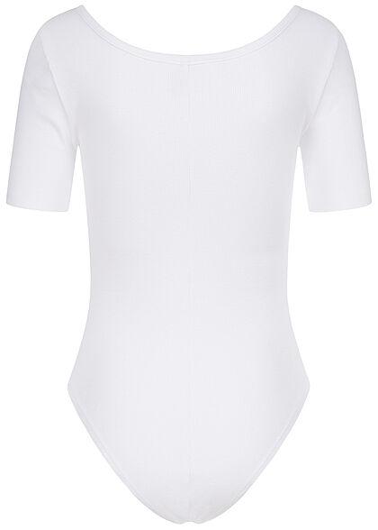 ONLY Damen T-Shirt Body Rückenausschnitt bright weiss