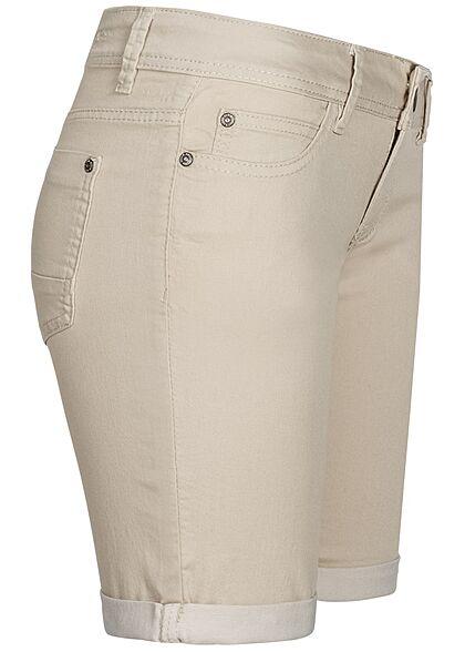Hailys Damen Bermuda Shorts 5-Pockets beige