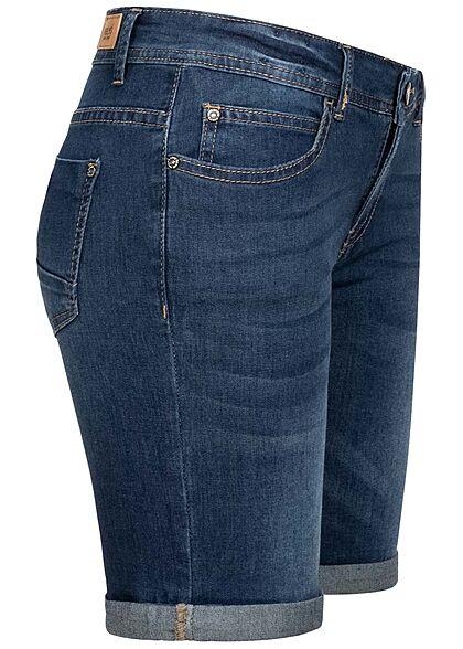 Hailys Damen Bermuda Shorts 5-Pockets dunkel blau denim