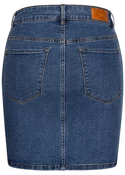 Vero Moda Damen NOOS Basic Mini Jeans Rock 5-Pockets medium blau denim