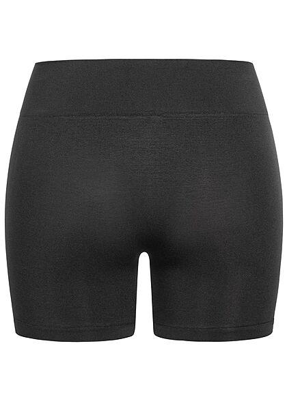 ONLY Damen NOOS kurze Radler Shorts Gummibund schwarz