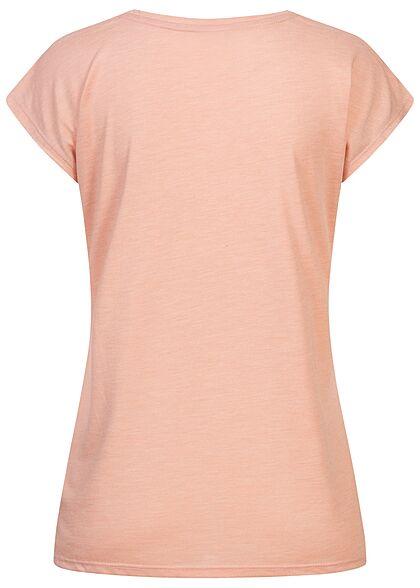 Zabaione Damen T-Shirt Beautiful Glitzer Print rosa