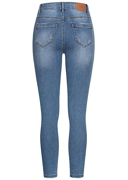 Hailys Damen High-Waist Jeans Hose 5-Pockets blau denim
