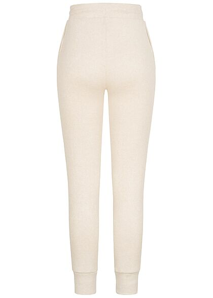 Hailys Damen Sweatpants Jogginghose Tunnelzug 2-Pockets beige marl