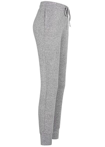 Hailys Damen Sweatpants Jogginghose Tunnelzug 2-Pockets grau marl